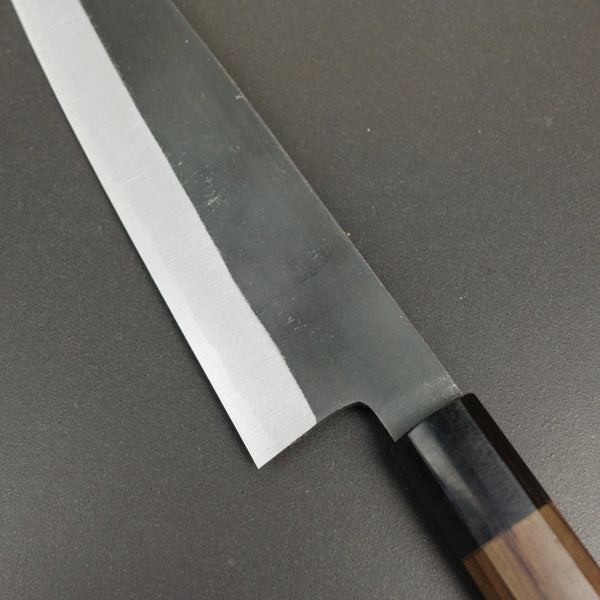 Gyuto knife, Shirogami 2 carbon steel, kurouchi finish - Yamawaki