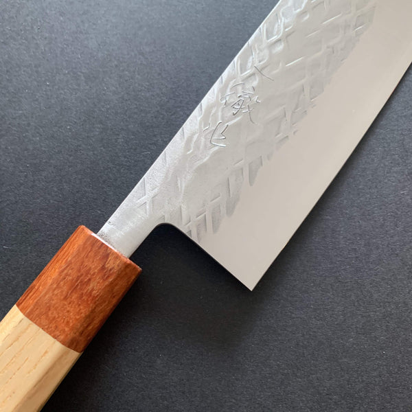 Nakiri knife, SLD steel, tsuchime finish - Tadafusa
