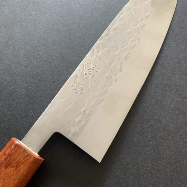 Santoku knife, SLD steel, tsuchime finish - Tadafusa