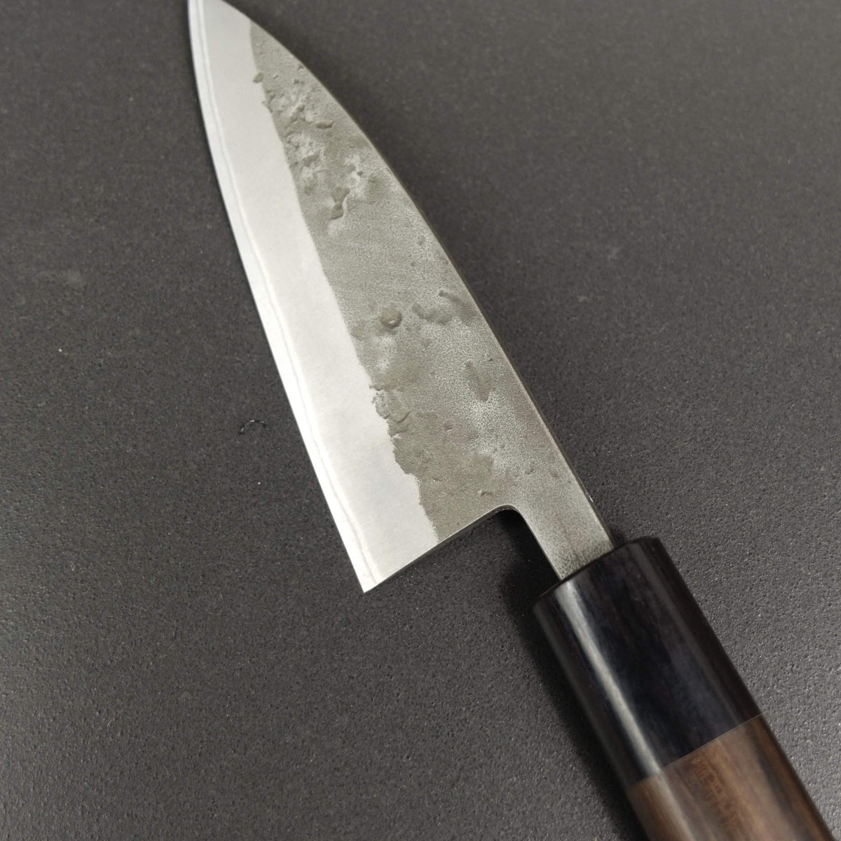 Ajikiri knife, Aogami 2 core with stainless steel cladding, nashiji finish - Ohishi