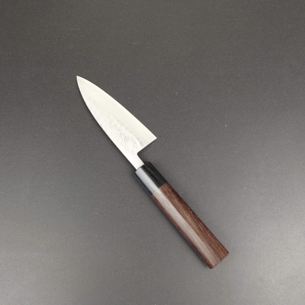 Ajikiri knife, SLD semi-stainless steel, tsuchime finish - Ohishi
