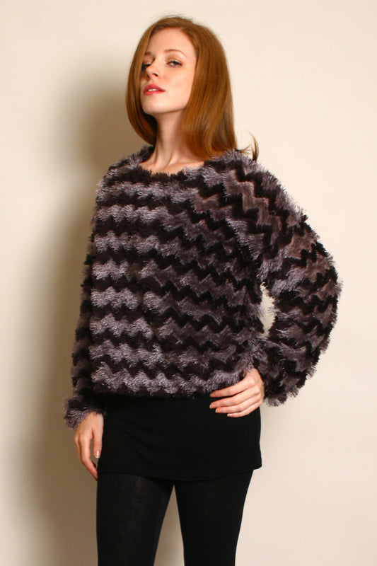 Miwa Zig Zag Feather Jumper