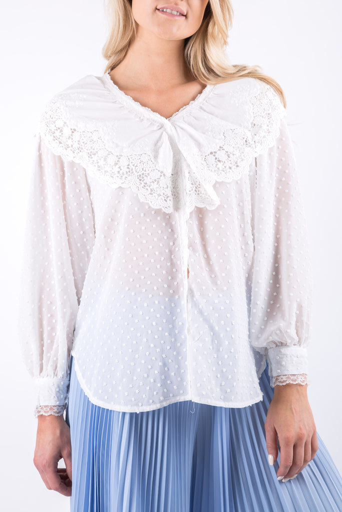 VICTORIA LACE BLOUSE IVORY