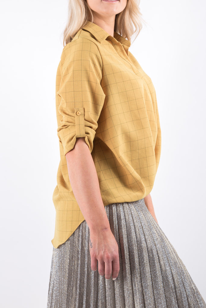 LAURA CHECKED BLOUSE YELLOW