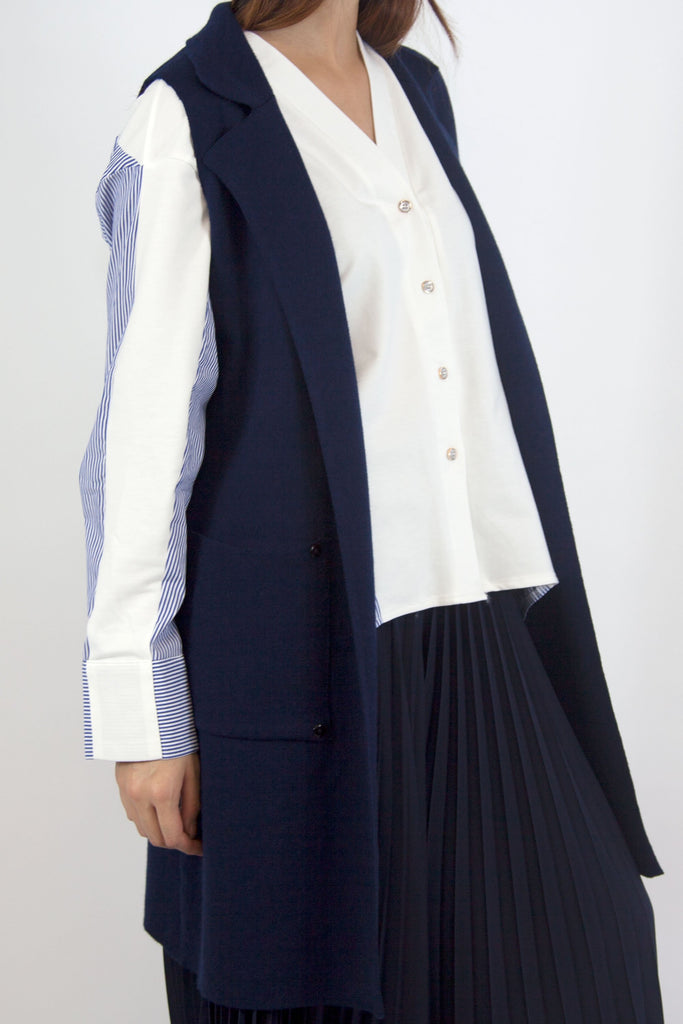 Ashley Waist Coat Navy