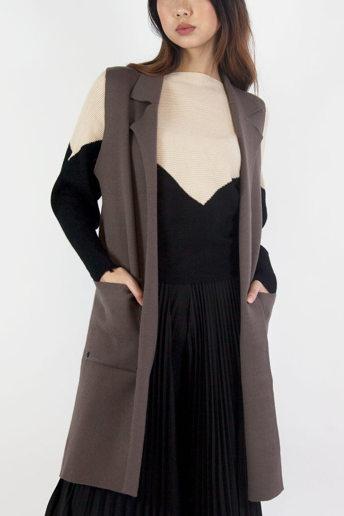 Ashley Waist Coat Brown