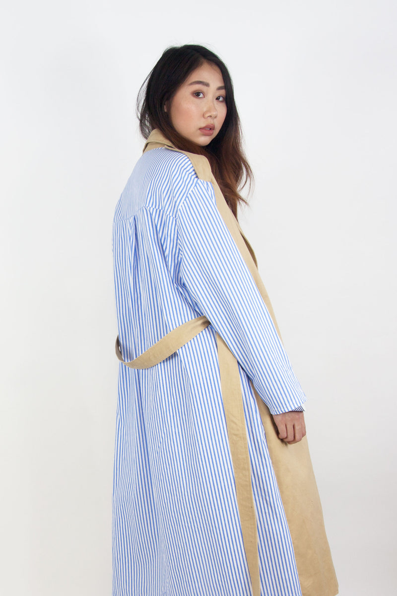 Back Stripe Trench Coat Beige