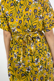 Floral Twisted Dress Yellow