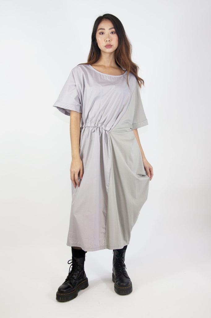 GREECIAN DRESS GREY
