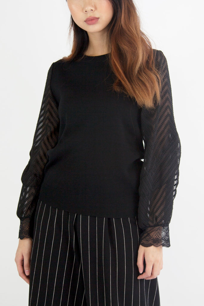 Holly Knit Top Black