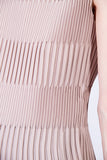 ADRIANA PLEATED TOP BEIGE