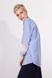 Kate Lace Shirt Blue