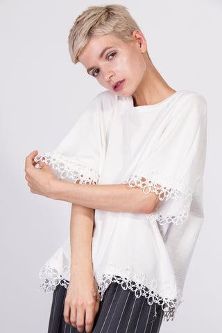 Molly Lace Top Ivory