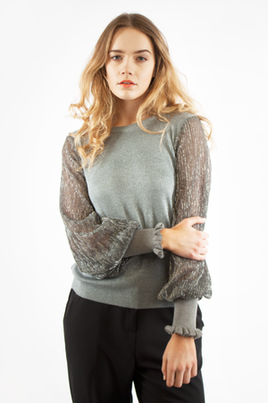 LUREX TOP GREY