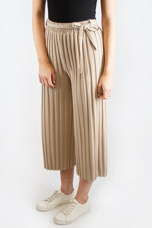 HANNAH PLEATED PANTS BEIGE