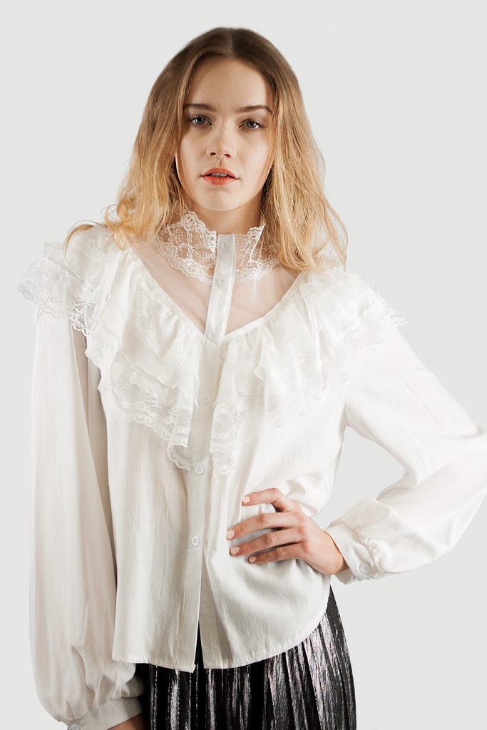 EVA LACE BLOUSE WHITE