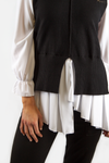 KATE LAYERED TUNIC BLACK