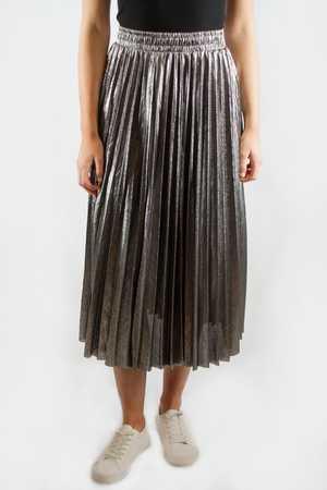 LUREX SKIRT GREY