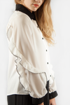 RUFFLE SLEEVE BLOUSE WHITE