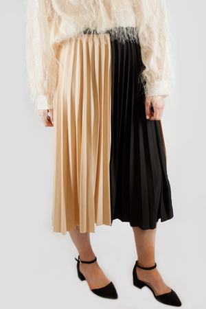 SARAH TWO TONE SKIRT BEIGE