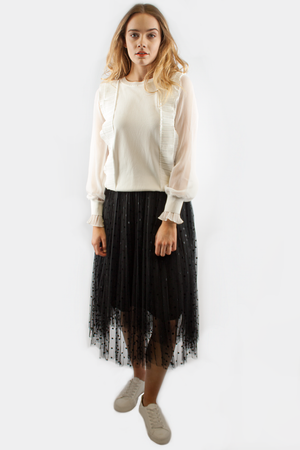 CHLOE PLEATED TOP IVORY