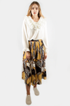 CHAIN PLEATED SKIRT YELLOW
