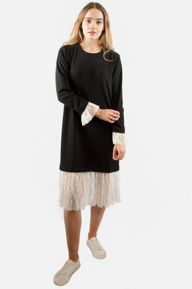 MIA LAYERED DRESS BLACK