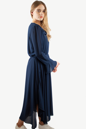HELENA CHIFFON DRESS NAVY