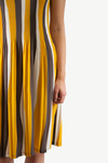 ELLE PLEATED DRESS YELLOW