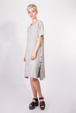 Side Slit Dress Grey