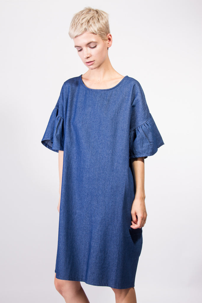 Clara Denim Dress Dark Blue