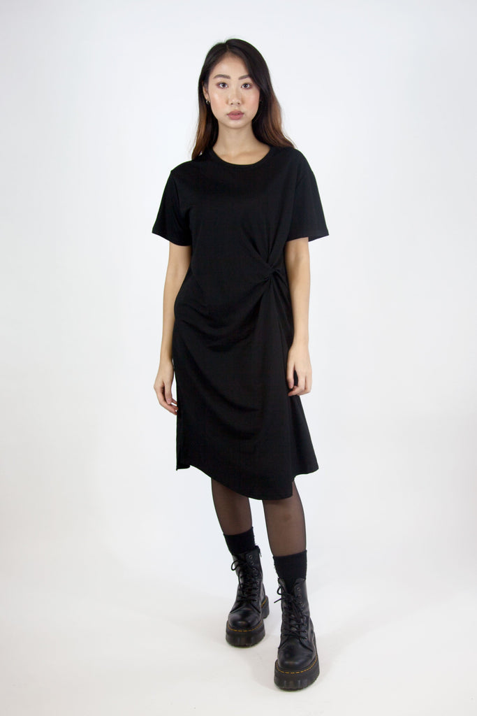 Janette Twist Dress Black