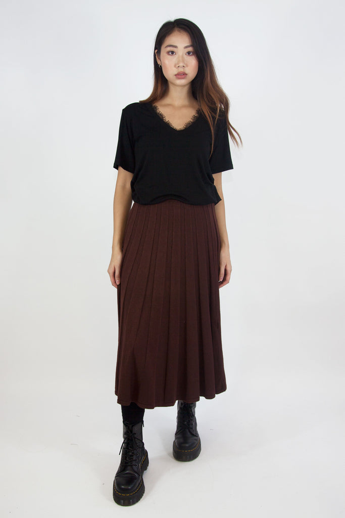 Jessica Knitted Skirt Brown