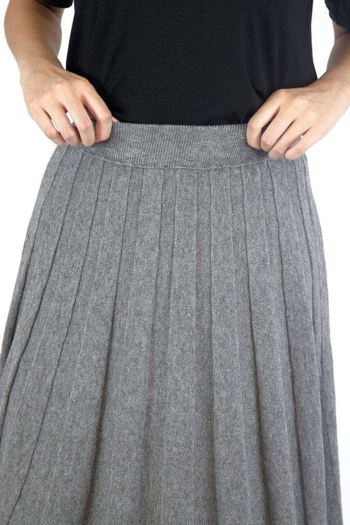 Jessica Knitted Skirt Grey