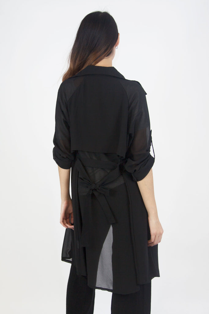 Jo Trench Coat Black
