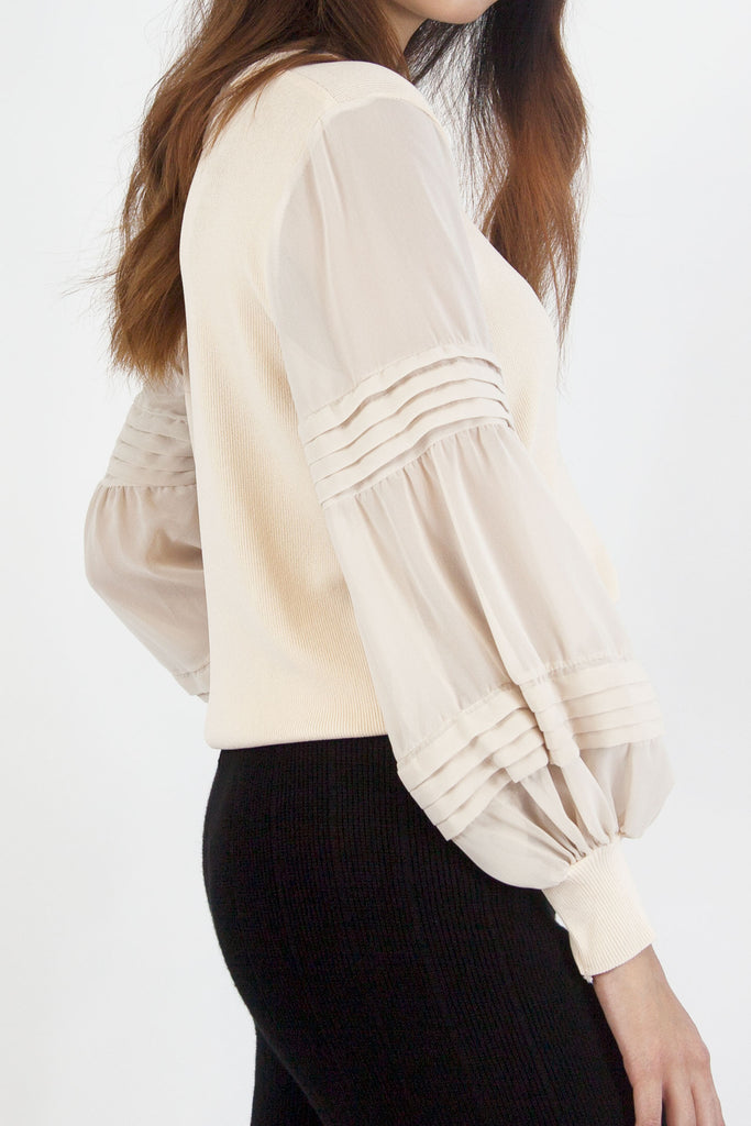 Mia Knitted Top Cream