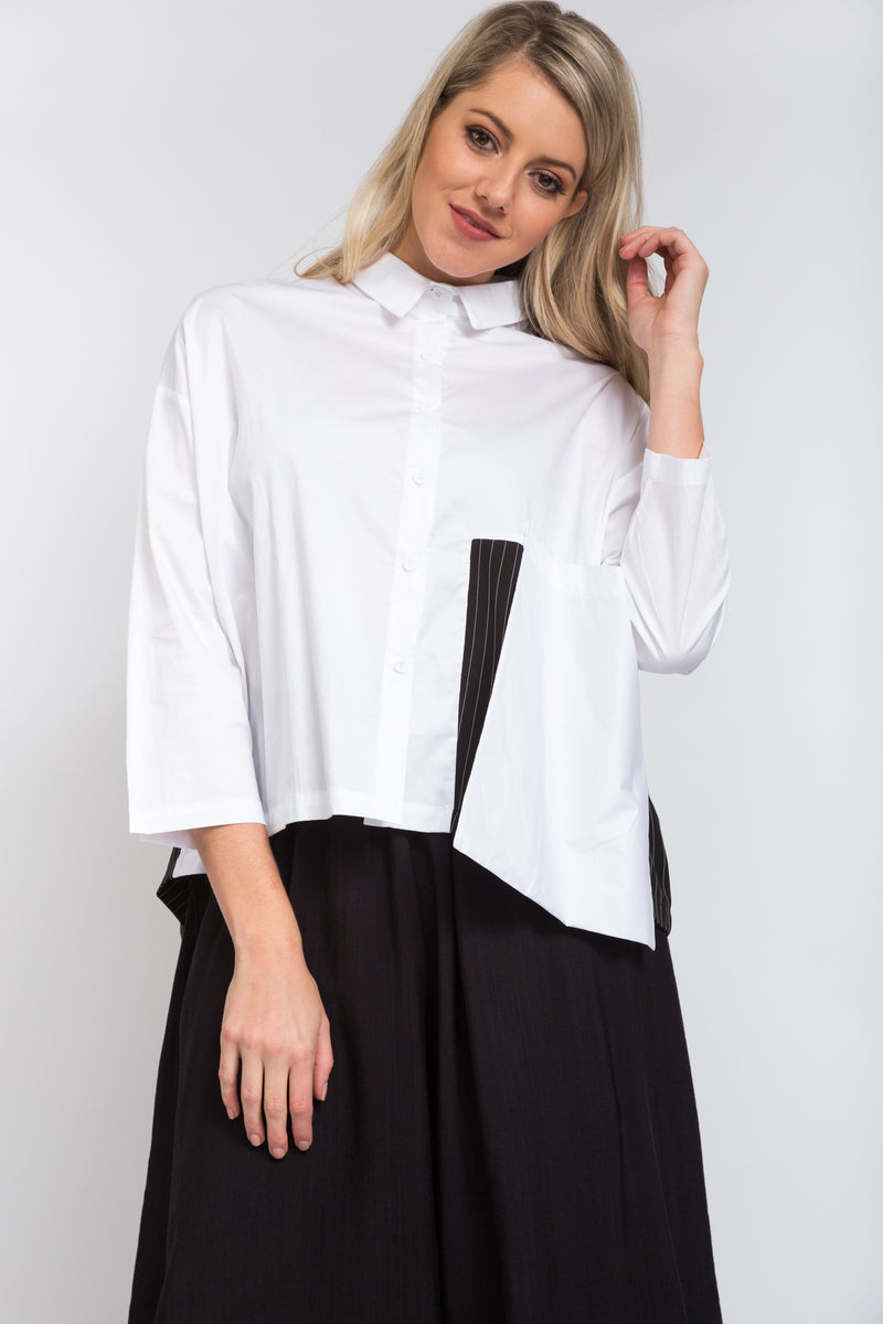 Oversize Pocket Shirt Ivory
