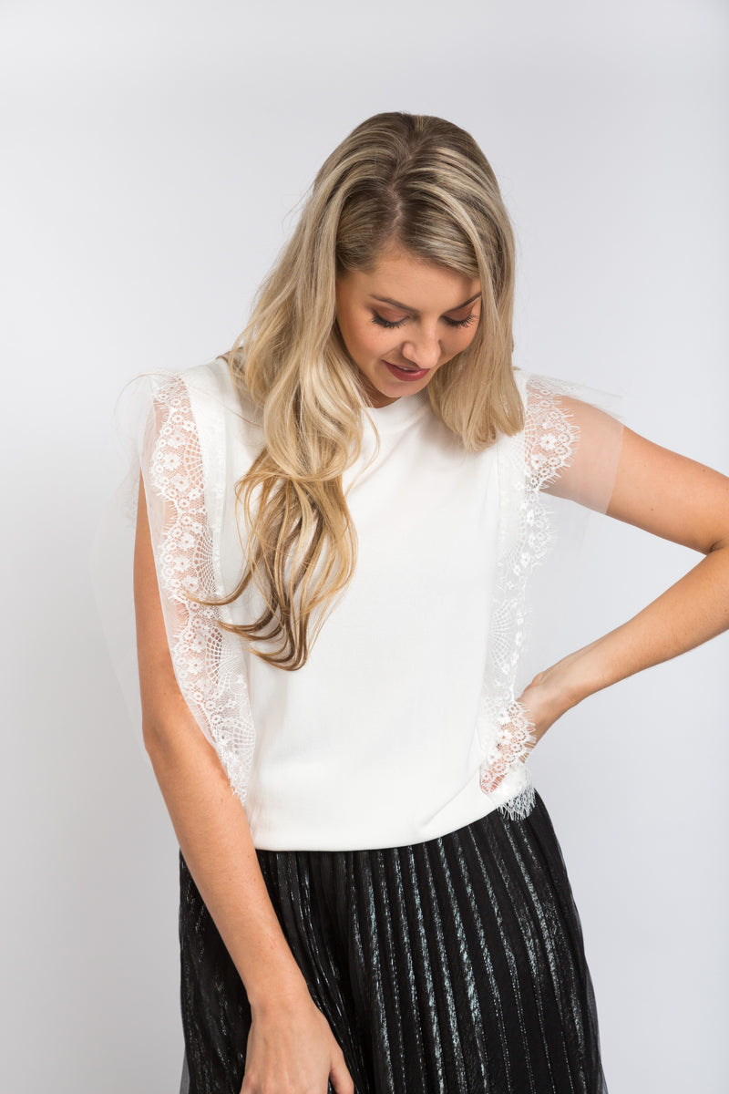 Valerie Knit Top Ivory