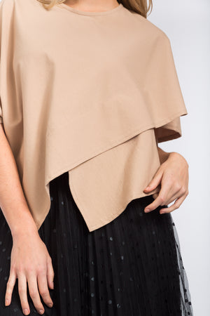 Crossover Top Beige