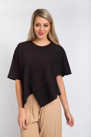 Crossover Top Black