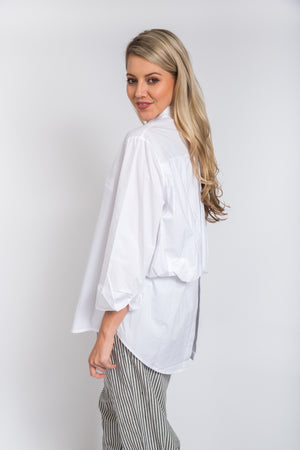 Back Pintuck Shirt Ivory