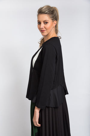 Slit Detail Top Black