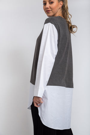 Mel Shirt Dress Grey