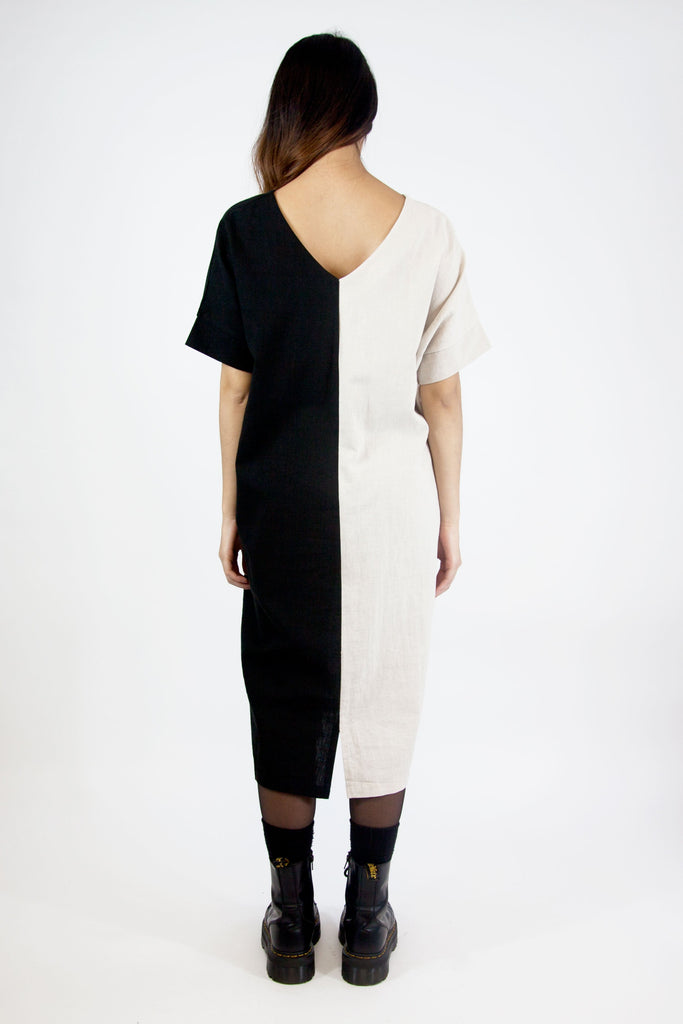 Two Tone Dress Black