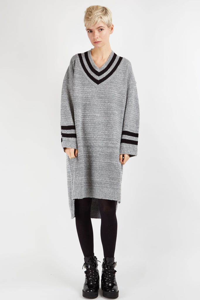 Abbie Knitted Dress Grey