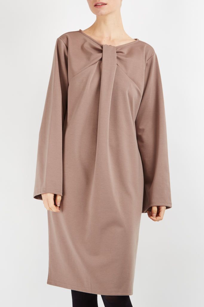 Frankie Twisted Dress Camel