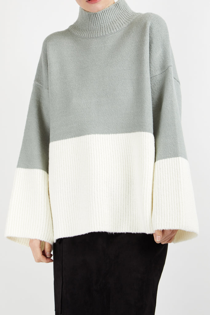 Two Tone Mint Jumper