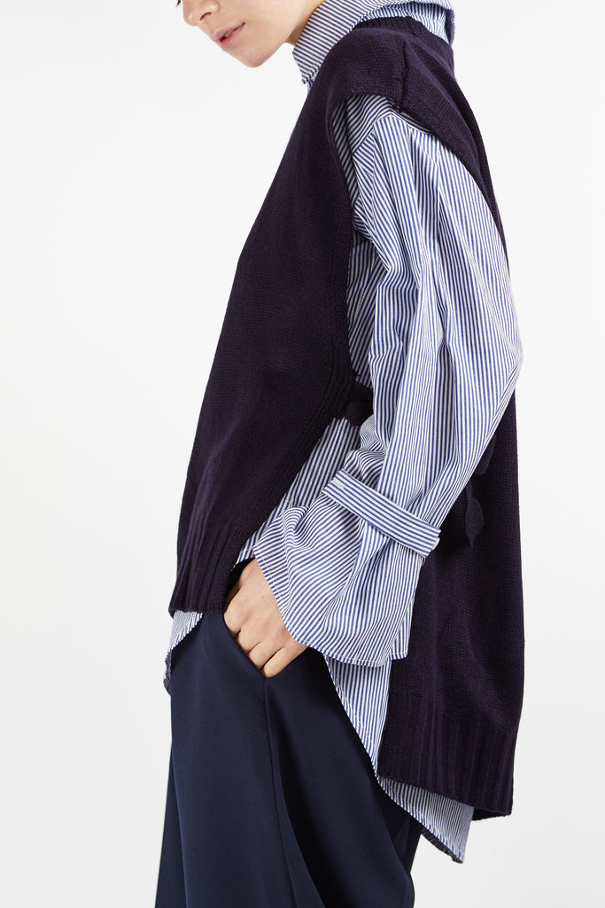 Millie Layered Tunic Navy Blue