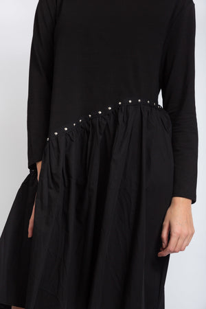 Stud Detail Dress Black