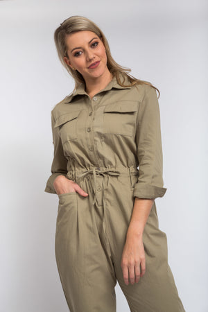 Lia Pocket Jumpsuit Khaki
